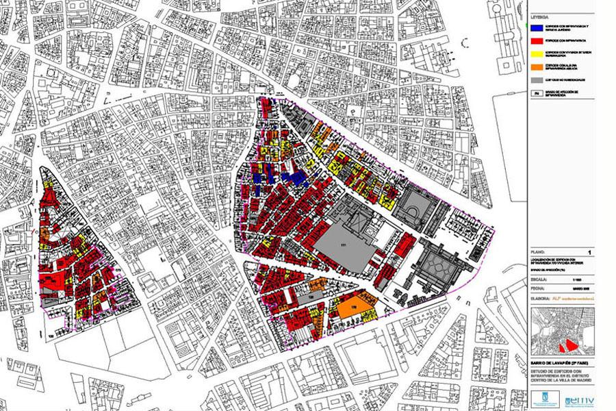 Estudios de infravivienda en lavapi s alf arquitectos - Estudios de arquitectura en madrid ...
